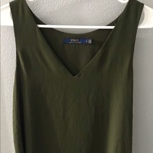 Olive green Polo Shift Dress